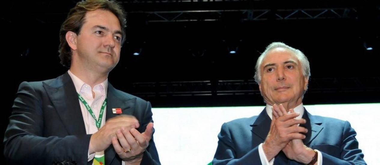 Joesley Batista e Michel Temer Foto: João Quesada / Agência O Globo
