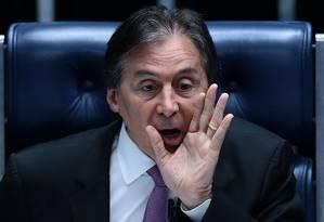 Presidente do Senado, Eunício Oliveira Foto: Jorge William / Agência O Globo