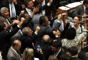 O presidente da Câmara, Rodrigo Maia, encerra após a revelação das denúncias Foto: Givaldo Barbosa / Agência O Globo