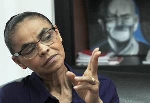 Marina Silva (REDE) foi candidata à presidência em 2014 Foto: Jorge William / Agência O Globo