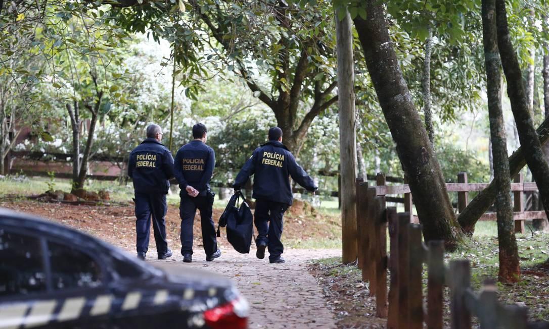 Operação da Policia Federal realiza busca e apreensão na Fazenda do senador Aécio Neves, na cidade de Cláudio, interior de Minas Gerais Pablo Jacob / O Globo
