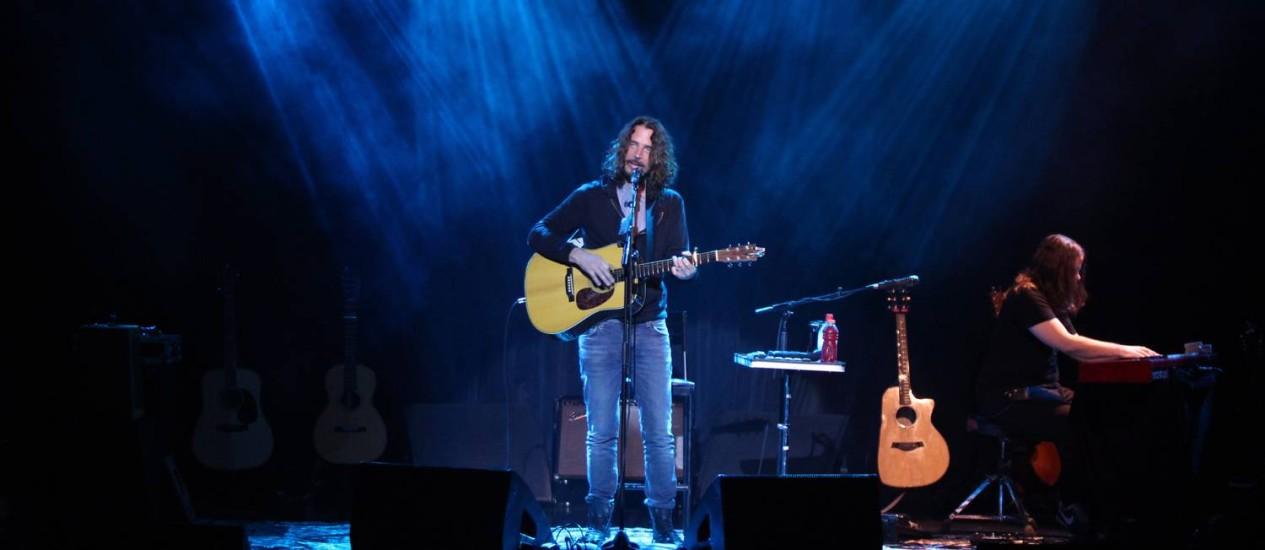 Chris Cornell em show no Rio, em dezembro de 2016 Foto: Lucas Tavares / Agência O Globo