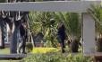 Michel Temer na manhã desta quinta-feira, saindo do Palácio Jaburu