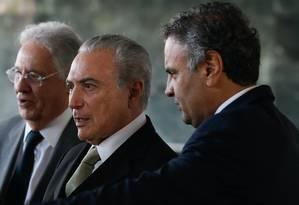Brasília - Presidente Michel Temer recebe lideranças do PSDB para almoço no Palácio da Alvorada. Foto: Beto Barata / Agência O Globo