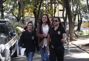 Irmã do senador Aecio Neves, a jornalista Andrea Neves foi presa nesta manhã pela Polícia Federal Foto: Agência O Globo