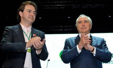 O dono da JBS, Joesley Batista, e o presidente Michel Temer Foto: João Quesada/12-12-2012 / Agência O Globo