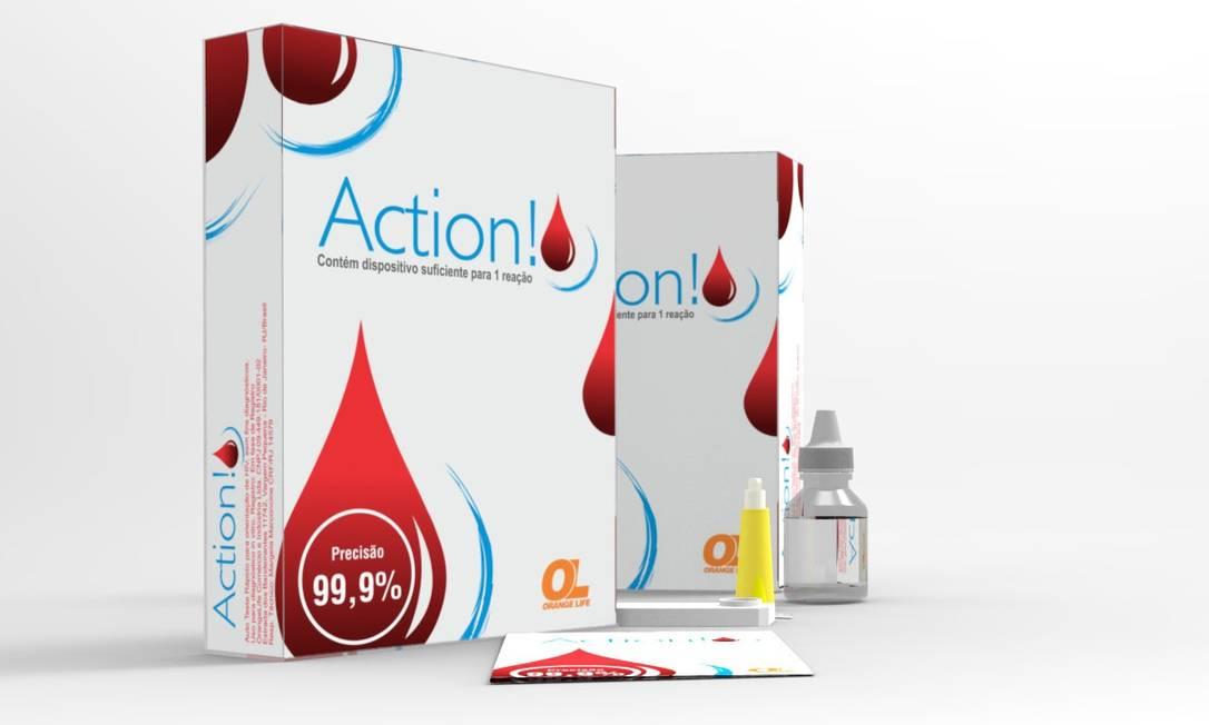 Autoteste para o HIV é fabricado no país pela empresa brasileira Orange Life Foto: Divulgação