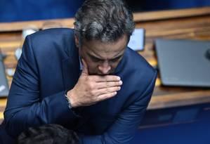 De acordo com Joesley, o senador afastado Aécio Neves tinha costume de pedir dinheiro Foto: Jorge William / Agência O Globo