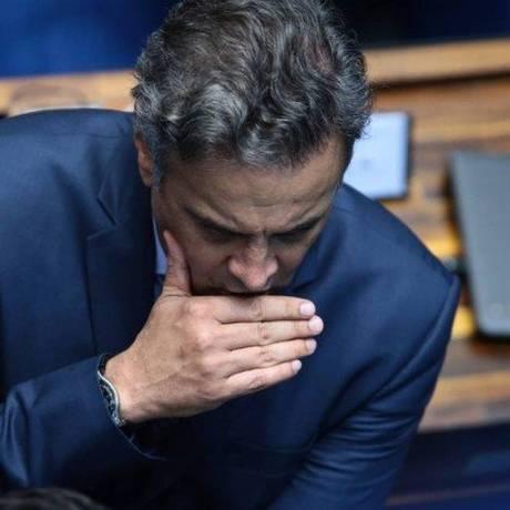 Senador Aécio Neves é delatado pelo empresário Joesley Batista Foto: Jorge William/Agência O Globo