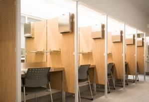 Sala para consumo seguro de drogas injetáveis: iniciativa pioneira em Vancouver foi replicada em Montreal Foto: Divulgação/Charles Mackay