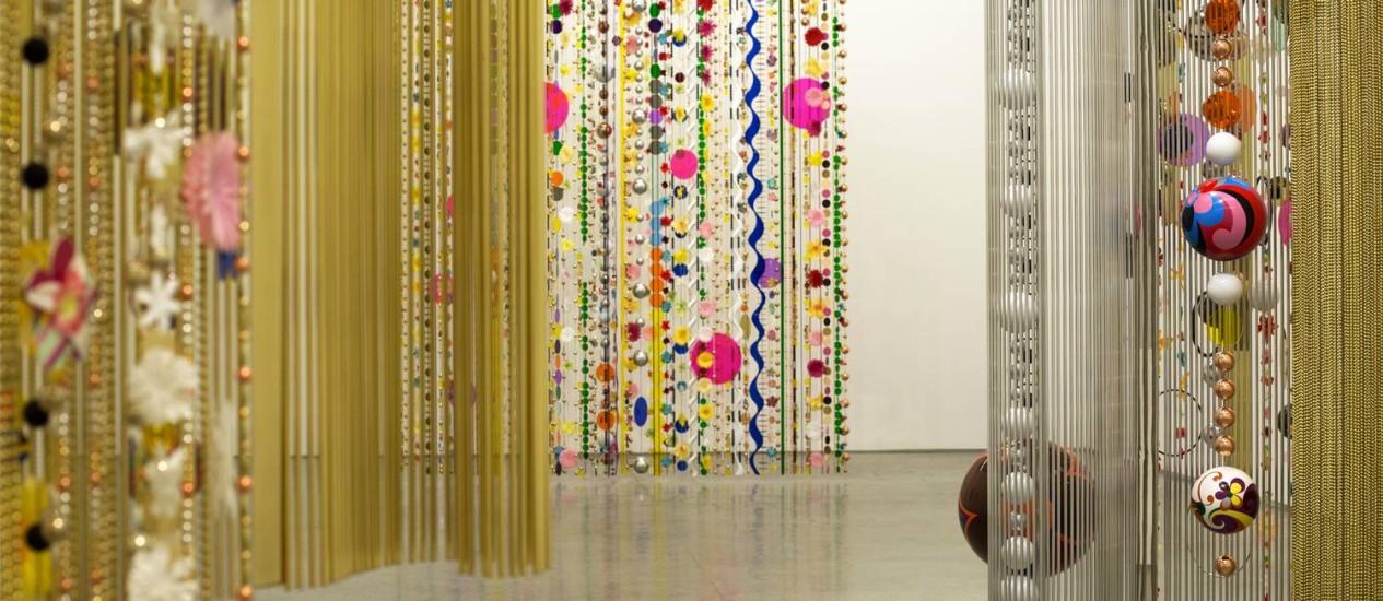 Exposição de Beatriz Milhazes na Galeria Carpintaria, no Jardim Botânico Foto: Ana Branco / O Globo