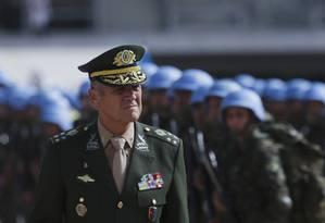 O comandante do Exército, general Eduardo Villas Bôas Foto: Michel Filho / Agência O Globo/14-02-2016