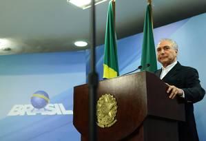 Presidente Michel Temer rebate acusações de delação de donos da JBS Foto: Jorge William / Agência O Globo