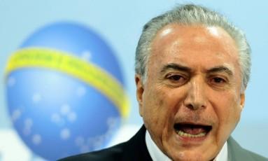 Temer fez pronunciamento rebatendo áudios da conversa com dono da JBS Foto: Jorge William / O Globo