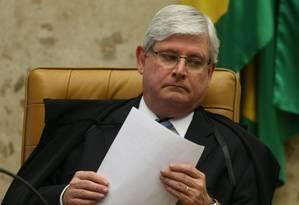 O Procurador Geral da República Rodrigo Janot durante sessão no Supremo Tribunal Federal (STF) Foto: André Coelho / Agência O Globo