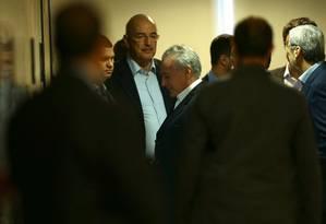 Presidente Michel Temer antes de pronunciamento à imprensa Foto: Jorge William / Agência O Globo