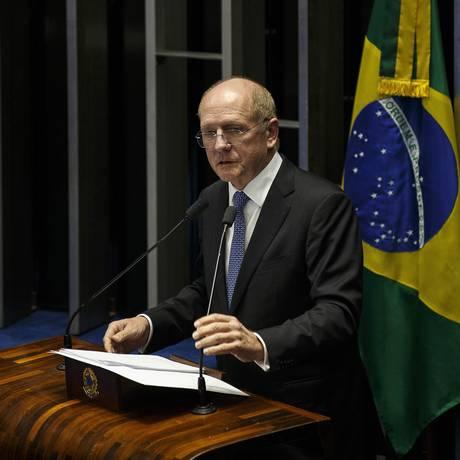 Para o senador Paulo Bauer (PSDB-SC), vazamento inviabilizou reunião das bancadas Foto: Daniel Marenco / Agência O Globo