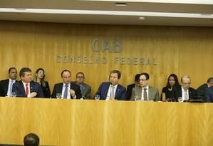 Conselheiros da OAB decidem apresentar pedido de impeachment de Temer Foto: Eugênio Novaes / Divulgação/ OAB