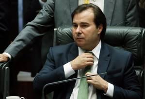 Rodrigo Maia governaria o país por 30 dias e conduziria eleições no Congresso Nacional Foto: Givaldo Barbosa / Agência O Globo