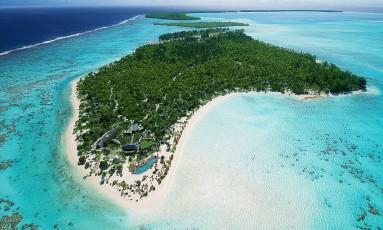 Que tal passar sua lua de mel num lugar desses? Uma exclusiva ilha no Pacífico? Tal luxo é para poucos, como o casal Pippa Middleton e James Matthews Foto: Divulgação