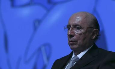 Ministro da Fazenda, Henrique Meirelles, em evento no dia 17 de maio. Foto Michel Filho/Agência O Globo