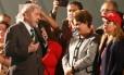 Os ex-presidentes Lula e Dilma, durante ato do PT em Curitiba Foto: RODOLFO BUHRER / REUTERS/10-05-2017