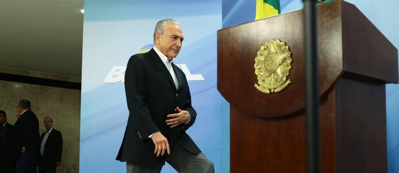 O presidente Michel Temer Foto: Jorge William / Agência O Globo 20-05-2017