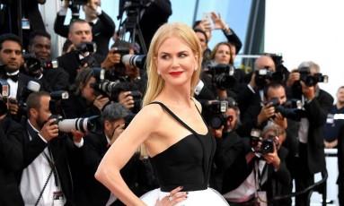 Nicole Kidman impressionou com um modelito da Calvin Klein Foto: Dominique Charriau / WireImage/Divulgação