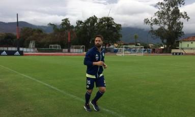 O meia Diego corre no gramado no Ninho do Urubu Foto: Divulgação/Flamengo