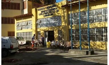 Escola Municipal Leila Barcelos de Carvalho, na Cidade de Deus. Foto de arquivo Foto: Reprodução Facebook