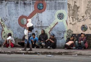 Um dia depois da operação, o clima nas ruas da região da cracolândia era de medo Foto: Edilson Dantas / Agência O Globo