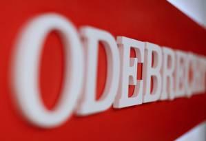 Logo da Odebrecht Foto: Carlos Jasso / Reuters