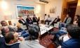 O presidente Michel Temer participa de reunião com deputados da base aliada na residência oficial do presidente da Câmara dos Deputados, Deputado Rodrigo Maia Foto: Alan Santos/Presdiência