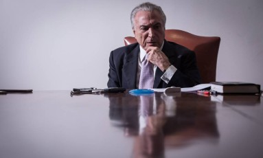 O presidente Michel Temer Foto: André Coelho / Agência O Globo 10/05/2017
