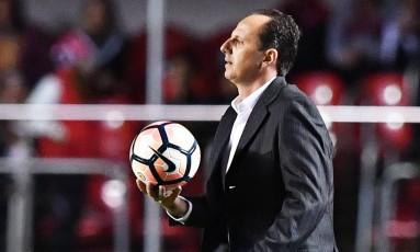 Rogério Ceni treinador do São Paulo Foto: NELSON ALMEIDA / AFP