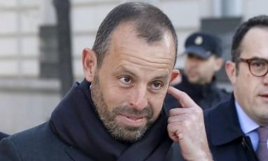 Sandro Rosell, ex-presidente do Barcelona, foi preso na Espanha Foto: ANDREA COMAS / REUTERS