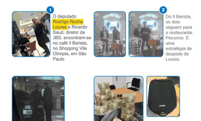 Imagens flagram entrega de dinheiro para Rodrigo Rocha Loures Foto: Reprodução