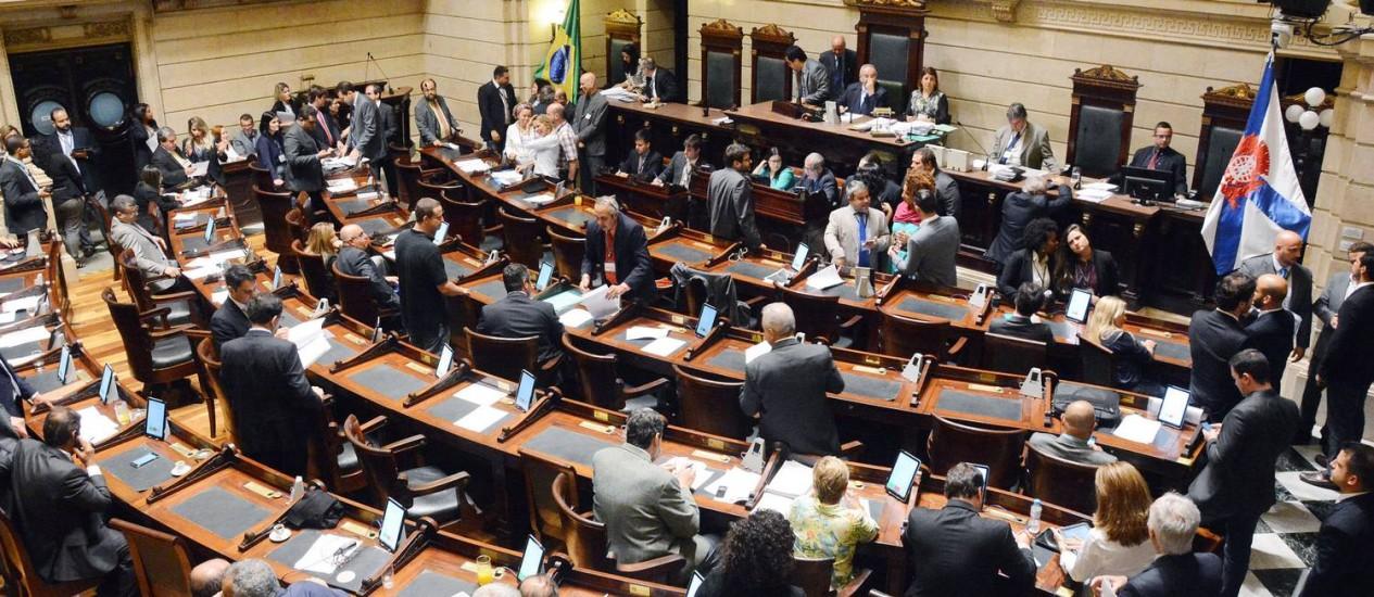 Vereadores no plenário da Câmara Foto: Divulgação / Câmara dos Vereadores