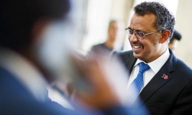 O etíope Tedros Adhanom Ghebreyesus é o primeiro africano a dirigir a Organização Mundial da Saúde Foto: Valentin Flauraud / AP