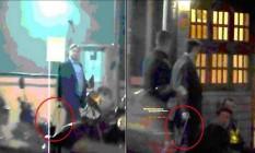 Na última vez que a mala havia sido vista, o deputado afastado Rodrigo Rocha Loures saiu com ela de um estacionamento de uma pizzaria de São Paulo, em 28 de abril Foto: Reprodução