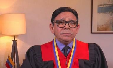 O juiz Danilo Mojica, da sala de Cassação Social: primeiro integrante do Tribunal Supremo a discordar do governo Foto: Reprodução Internet