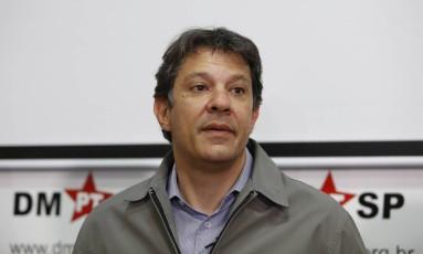 Ex- prefeito de São Paulo Fernando Haddad (PT-SP) Foto: Edilson Dantas / Agência O Globo