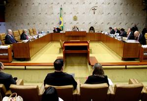 Sessão do Supremo Tribunal Federal Foto: Ailton de Freitas / Agência O Globo/19-04-2017