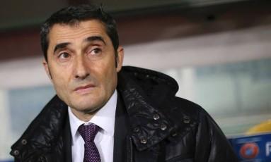 Ernesto Valverde é o novo treinador do Barcelona Foto: MARCO BERTORELLO / AFP
