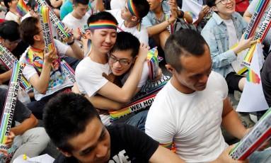 Decisão foi comemorada por defensores da liberação do casamento gay Foto: TYRONE SIU / REUTERS