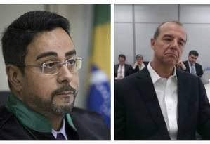 O juiz Marcelo Bretas e o ex-governador Sérgio Cabral Foto: Montagem/O GLOBO