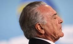 Michel Temer durante Cerimônia de Sanção da Lei de Revisão do Marco Regulatório da Radiodifusão Palácio do Planalto Foto: André Coelho / O Globo