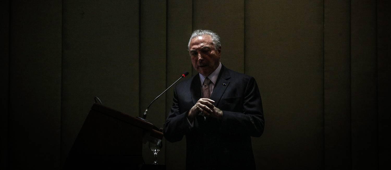 O presidente Michel Temer participa de Cerimônia de formatura de duas turmas do Instituto Rio Branco no Palácio Itamaraty Foto: André Coelho / O Globo