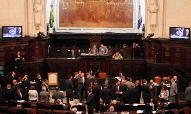 Deputados no plenário da Alerj em 23/05/2017 Foto: Thiago Lontra / Divulgação - Câmara dos Deputados