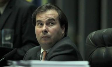 Rodrigo Maia, presidente da Câmara dos Deputados, durante sessão plenária Foto: Jorge William / Agência O Globo/23-05-2017